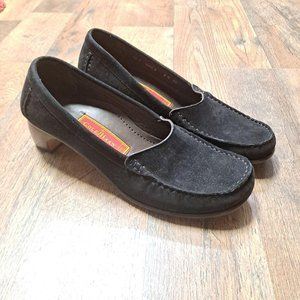 Cole Haan Country Black Leather suede Loafers 7.5